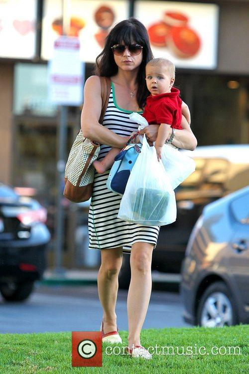 Selma Blair out and about with her son...