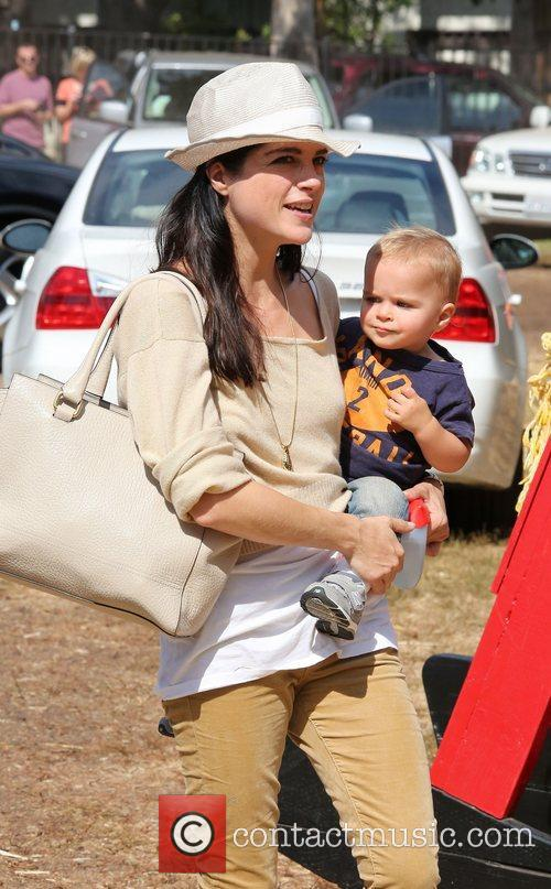 Selma Blair, Arthur Saint Bleick and Mr. Bones Pumpkin Patch 8