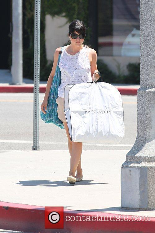 Leaving the Marc Jacobs store on Melrose Place
