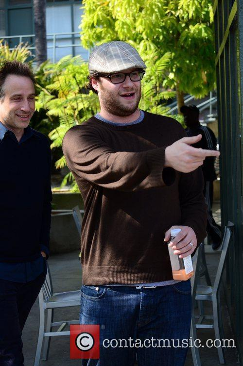 Seth Rogen leaving a Doctor's appointment in Brentwood...