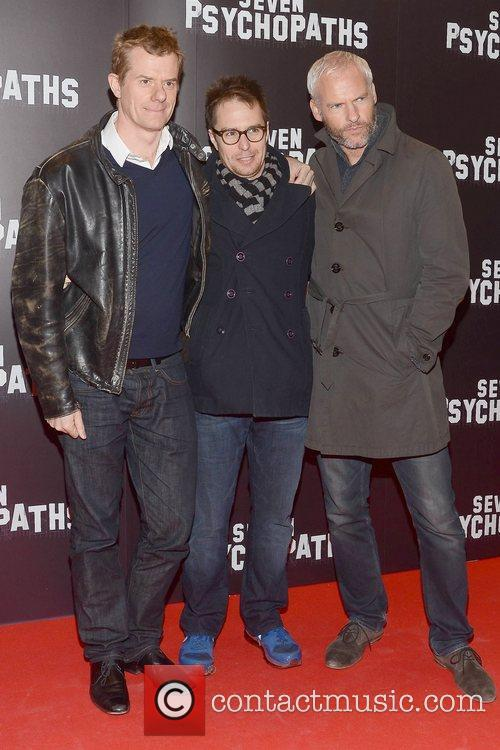 Graham Broadbent, Sam Rockwell and Martin Mcdonagh 8