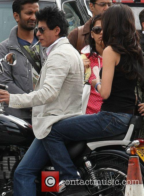 Shah Rukh Khan filming scenes from his latest...