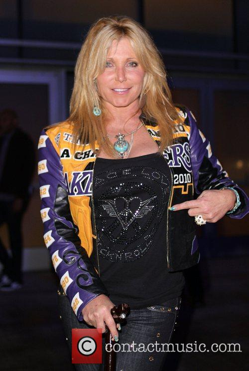 Pamela Bach-Hasselhoff  leaving the Staples Center for...