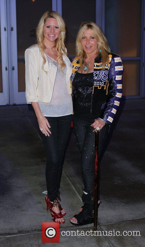 Pamela Bach-Hasselhoff  with Playmate Ashley Mattingly leaving...