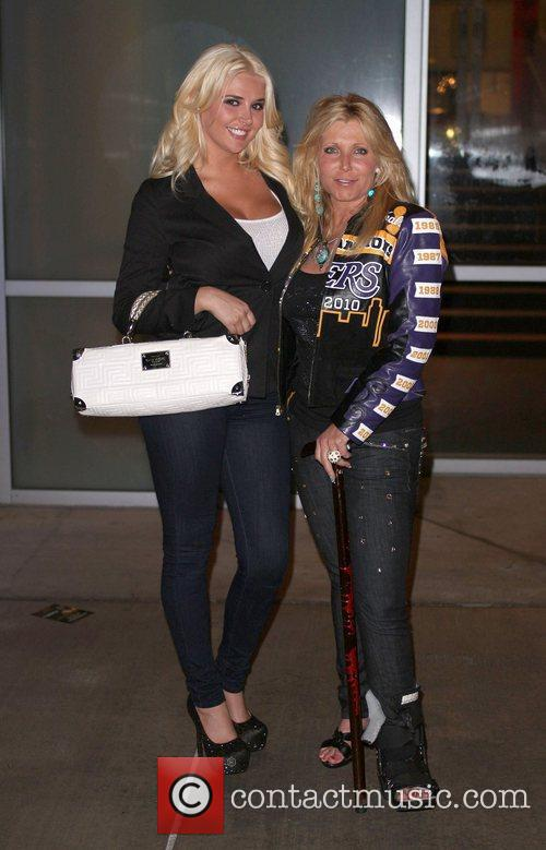 Pamela Bach-Hasselhoff  with Playmate Kristina Shannon leaving...