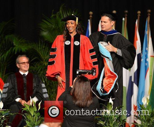 Cynthia Atterberry Shaquille O'Neal receives his doctoral degree...