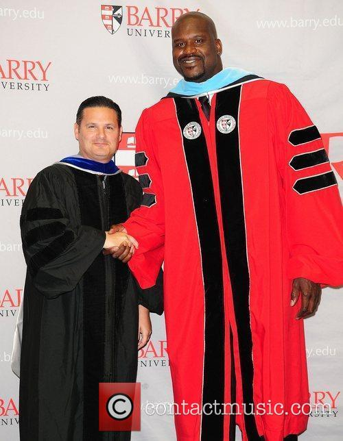 Shaquille O'Neal Shaquille O'Neal receives his doctoral degree...