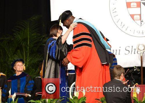 Shaquille O'Neal receives his doctoral degree in education...