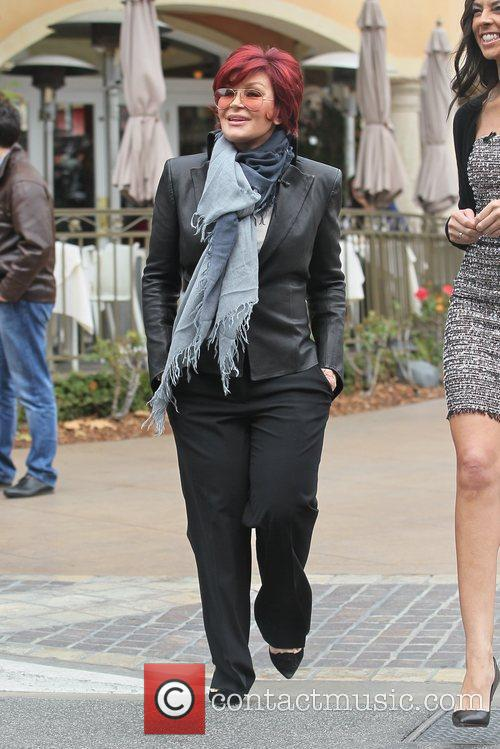 Sharon Osbourne at The Grove to film a...