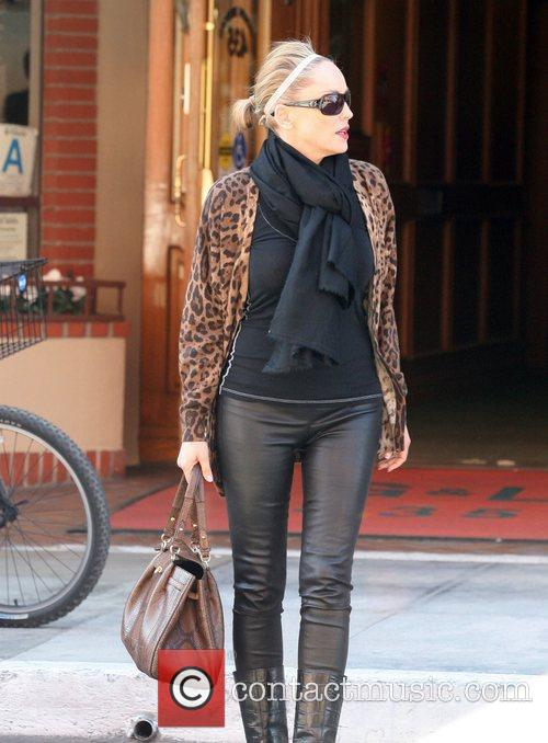 Sharon Stone  leaves a medical building in...