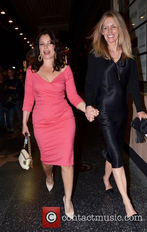Fran Drescher seen leaving the Pantages theatre in...