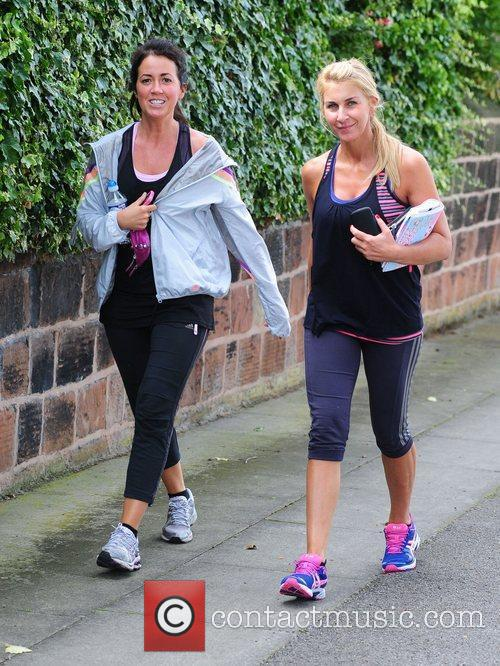 Sheree Murphy leaving the gym with her personal...