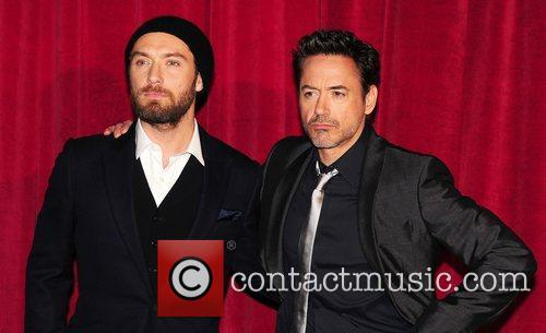 Robert Downey Jr, Jude Law and Empire Leicester Square 12