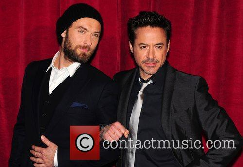 Robert Downey Jr, Jude Law and Empire Leicester Square 13