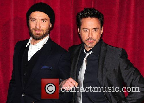 Robert Downey Jr, Jude Law and Empire Leicester Square 14