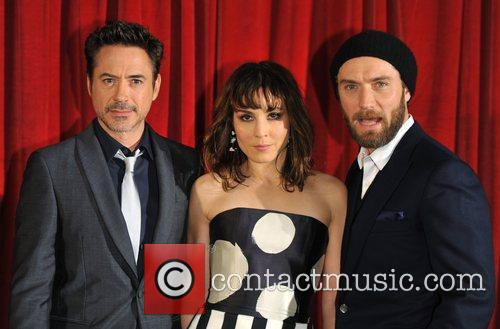 Robert Downey Jr, Jude Law, Noomi Rapace, Empire Leicester Square