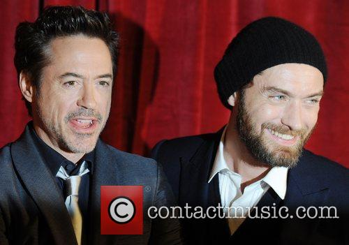 Robert Downey Jr, Jude Law and Empire Leicester Square 5