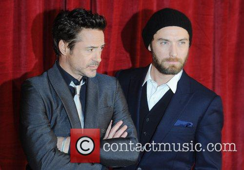 Robert Downey Jr, Jude Law and Empire Leicester Square 2