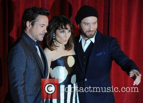 Robert Downey Jr, Jude Law, Noomi Rapace and Empire Leicester Square 5