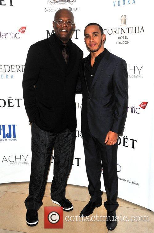 Samuel L Jackson and Lewis Hamilton 2