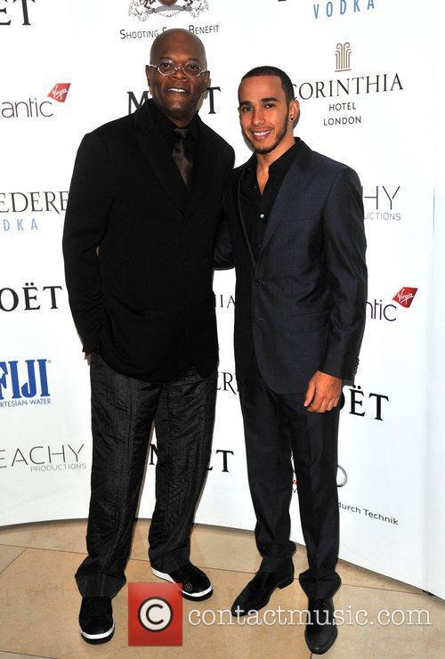 Samuel L Jackson and Lewis Hamilton 1