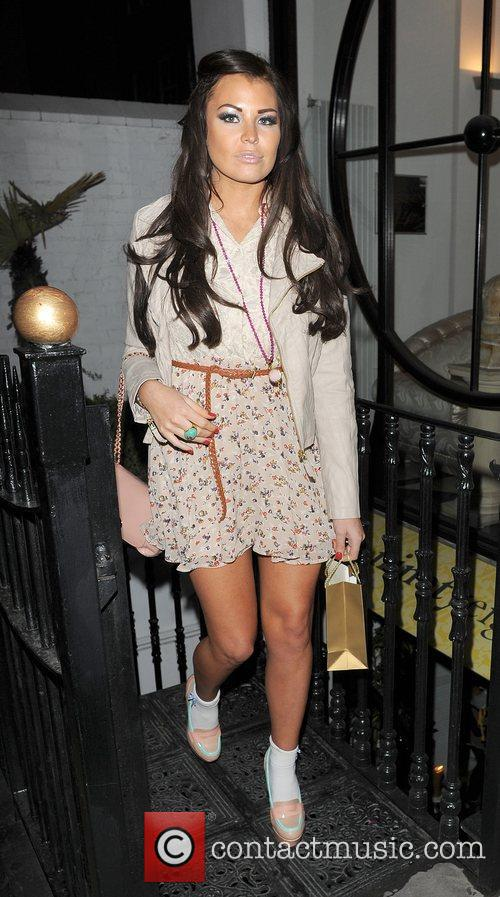 Jessica Wright leaving a party in Shoreditch. London,...