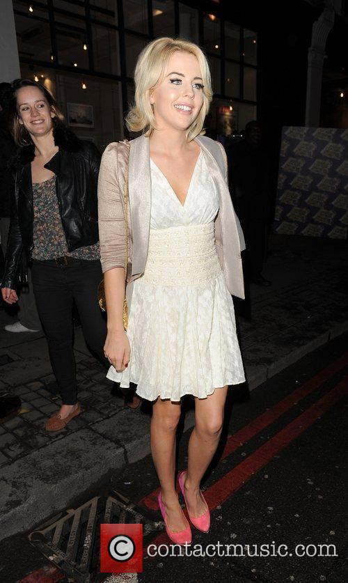 Lydia Rose-Bright leaving a party in Shoreditch.