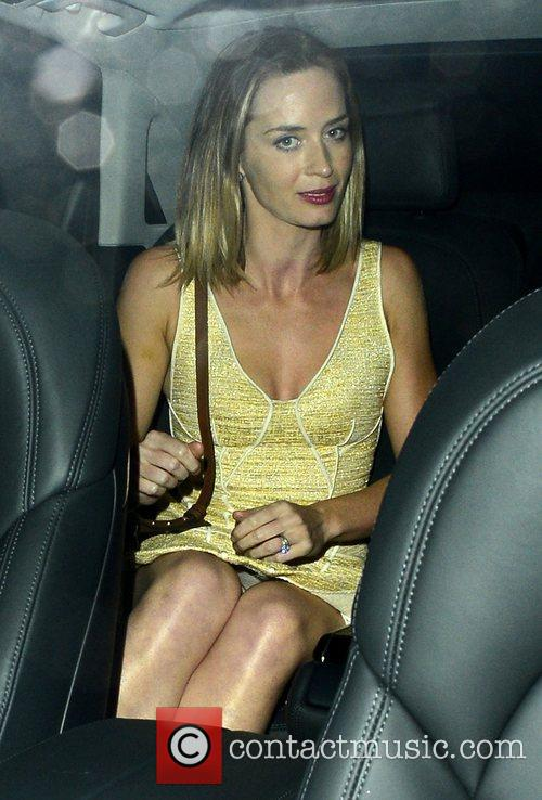 Attends Stanley Tucci and Felicity Blunt's pre-wedding drinks...