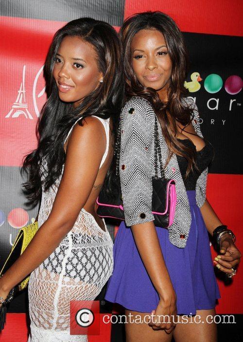 Vanessa Simmons and Angela Simmons celebrate at Sugar...