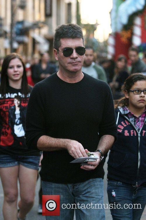 Simon Cowell arrives at The Grove to finish...