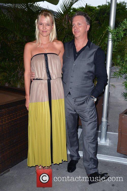 Singer/songwriter Simon Richards (R) and girlfriend Tatiana Raiman...
