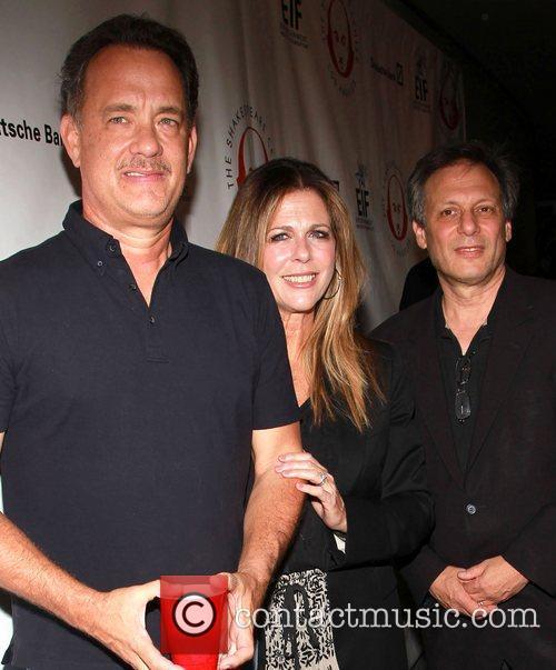 Tom Hank, Rita Wilson and Ben Donenberg 1
