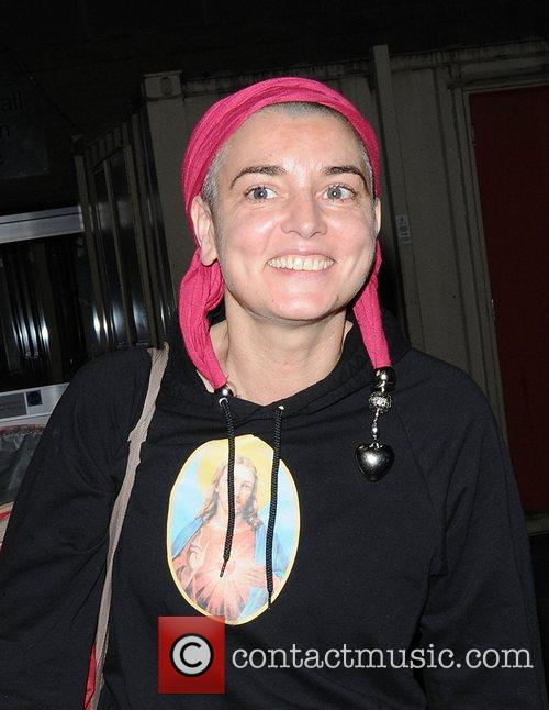 Sinead O'Connor seen leaving The Queen Elizabeth Hall...