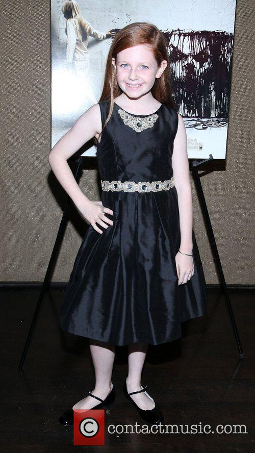 Clare Foley for the NYC screening of 'Sinister'...