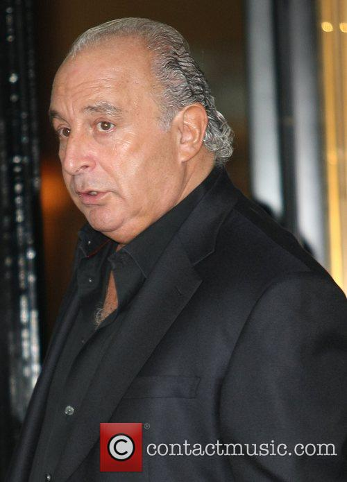 Sir Philip Green  outside his hotel London,...