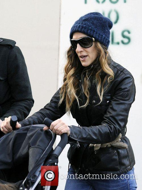 Sarah Jessica Parker on her morning school run...