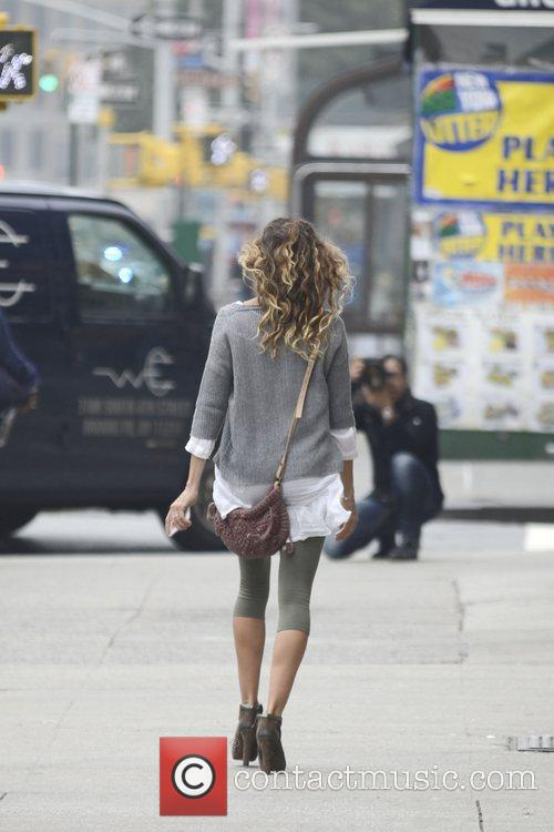 Sarah Jessica Parker is seen after taking her...