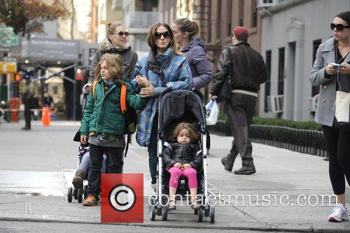 Sarah Jessica Parker, James Wilkie, Tabitha, Marion and Manhattan 5