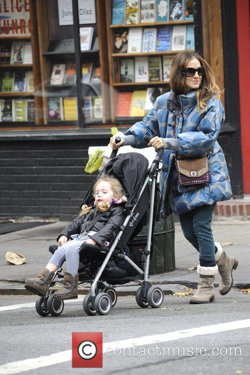 Sarah Jessica Parker takes her twins Tabitha and...
