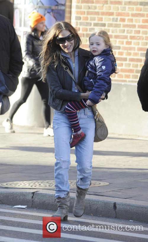 Sarah Jessica Parker takes her twin daughters Marion...