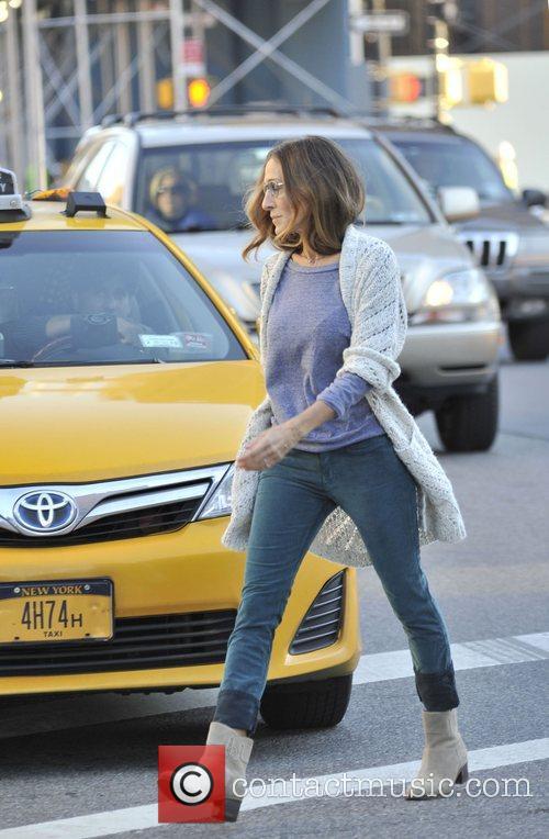 Sarah Jessica Parker runs errands after dropping her...