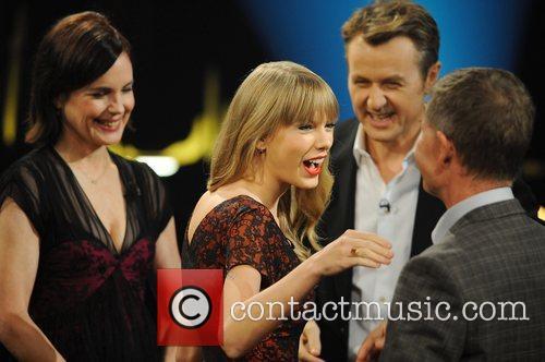 Elizabeth Mcgovern, Taylor Swift and Fredrik Skavlan 2