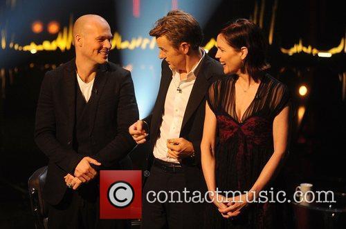 Freddie Ljungberg, Fredrik Skavlan and Elizabeth Mcgovern 6