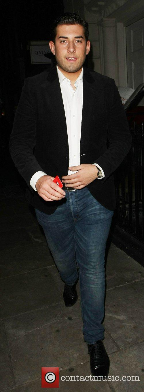 James Argent Celebrities leave a party marking the...