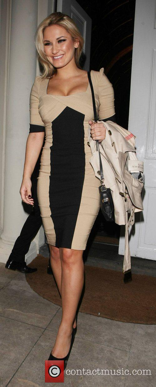 Sam Faiers Celebrities leave a party marking the...