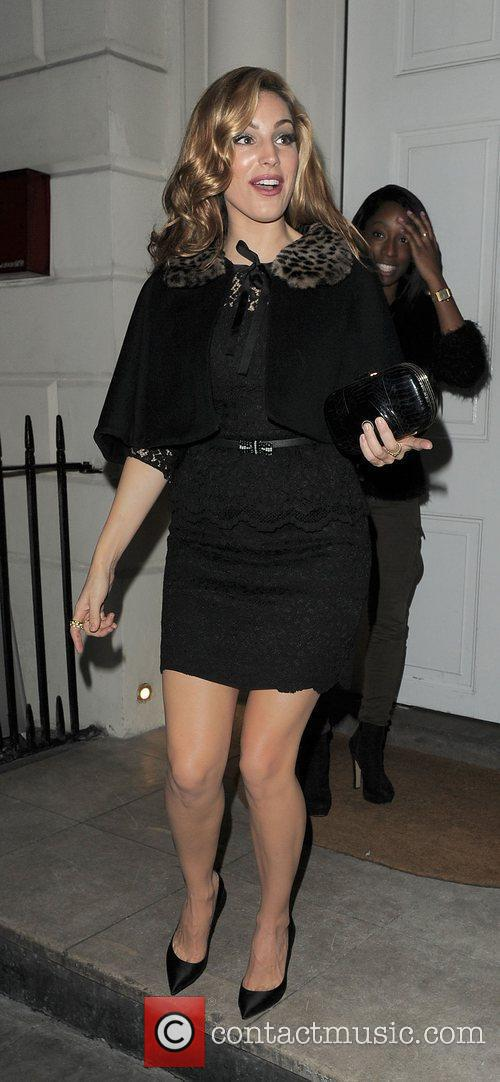 Kelly Brook  leaving a party marking the...