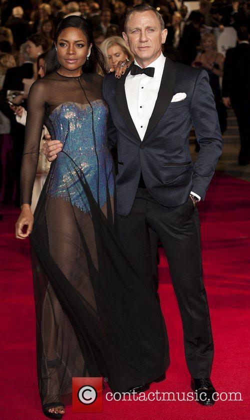 Naomie Harris & Daniel Craig - Skyfall - London Premiere
