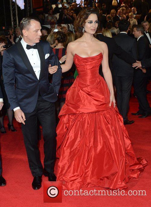 Berenice Marlohe, Daniel Craig, Skyfall, Royal Albert Hall, London and England 1