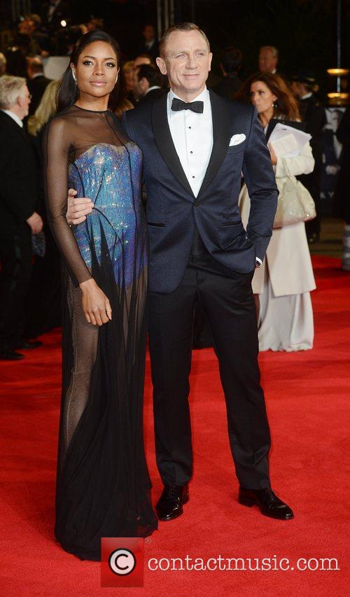 Daniel Craig, Naomie Harris, Skyfall, Royal Albert Hall, London, England