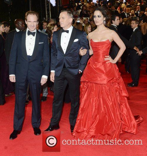 Ralph Fiennes, Berenice Marlohe, Daniel Craig, Skyfall, Royal Albert Hall, London and England 6